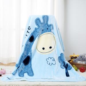 卡卡图多功能 蓝色长颈鹿 厚毛毯抱毯 云毯 婴幼儿盖被 精品热卖